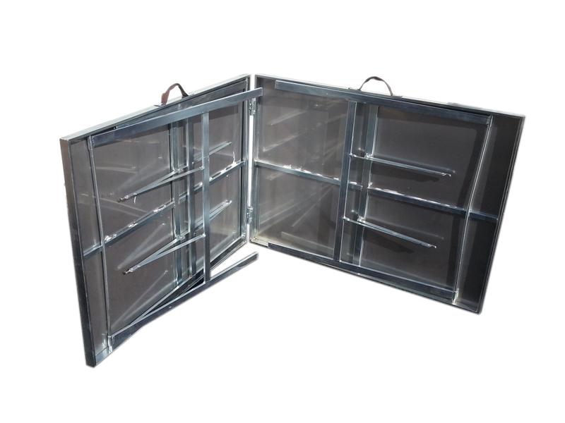 Table pliable plateau alu ou inox l 2m00 probroc - Table alu pour marche ...