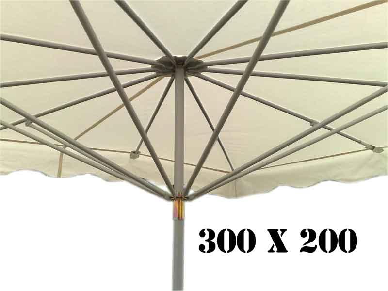 parasol forain 300 x 200 probroc. Black Bedroom Furniture Sets. Home Design Ideas